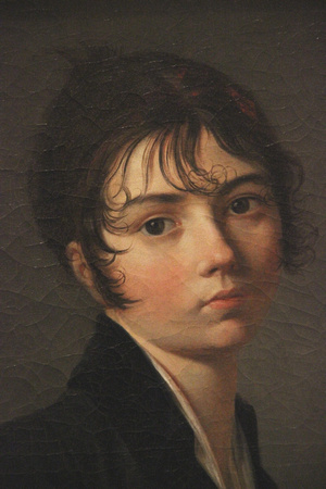 Detail:  Girl with Portfolio. Guillaume Lethiere, about 1799